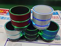 bluetooth trois achat en gros de-S09 Mini Portable Sans Fil Bluetooth Haut-Parleur Haut-Parleur Hi Fi Lecteur De Musique Avec Trois Anneaux De Lumière Micro SD TF Micro USB Port D'écouteurs