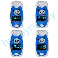 Wholesale Oximeter For Children - 4PCS Hot Kids Use Child Pediatric Finger SpO2 PR Pulse Oxygen oximeter LCD CE healthy care for kid