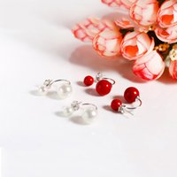 Hot Seller Back Studs 6mm 9mm Double Side Balls 925 Sterling Silver Brincos Jóias Gift Christmas Two Colors 5pairs A lotal Wholesale