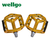 Wholesale Wellgo Mtb - WELLGO MG-3 MG3 Magnesium 9 16'' Axle 2DU Bearing Boron Spindle Road MTB BMX DH Bike Bicycle Cycling Parts Flat Platform Pedals