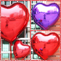Wholesale Hot Balloon Heart - 23 18 10 Inches Aluminum Foil Balloons Heart Style Wedding New Year Celebration Christmas Holiday balloon Birthday party Decoration Cheap