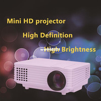 Wholesale Led Portable Overhead Projector - 800*480 Portable Mini HD LED Projector 3000 Lumens Support RED BLUE 3D Moive Multimedia Home Projector Factory Direct Sale