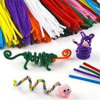 Atacado- 50pcs / set Mix Color Soft Plush Stick Shilly-Stick Toy Brinquedos educativos para crianças DIY Materiais artesanais artesanais e artesanais
