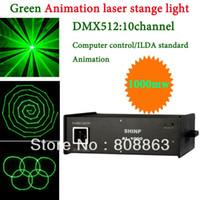 Wholesale Show Laser 1w Green - Green 1000mW 1W Laser projector Party Bar Club dmx512 ILDA lighting light DJ Disco Dance KTV cool Animation Stage Light show