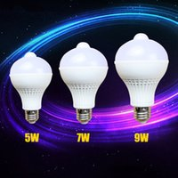 Wholesale E27l screw body sensing LED bulb intelligent optical control infrared sensor security lights aisle balcony toilet