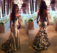 Wholesale Low Priced Long Dresses - Charming Style Mermaid Sweetheart Chiffon Formal Prom Dresses Applique Hi-lo Elegant Party Dress Long Homecoming Gown Low Price