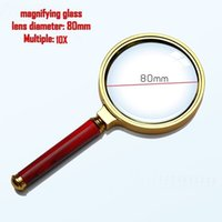 Wholesale Handheld Magnifiers - 80MM 10X Handheld Magnifying Glass Magnifier Magnification