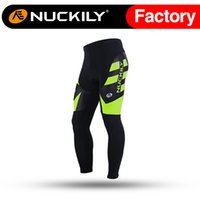 Anti UV sport interfaces - Nuckily Mens elastic interface D cycling pad pants Men s outdoor soft hand feeling padded sport long tight MD003