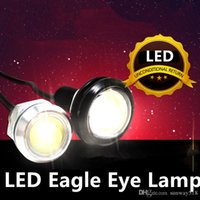 Wholesale Eagle Eyes Auto Lamps - LED car light power bright Ultra-thin Eagle Eye Lamp Rogue Reversing Light Led Daytime Running Lights spotlight driving Auto 12W led mini