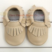 Wholesale Free Baby Booties - Wholesale baby moccasins baby moccs girls bow moccs Layer soft leather moccs baby booties toddler shoes free shipping
