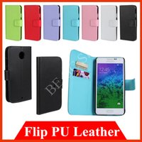 Wholesale Covers Galaxy Zoom - Flip Wallet cases Leather PU Case Cover for Samsung Galaxy Alpha A3 A5 Xcover ACE 4 G313 GIO K Zoom Young For MOTO Nexus 6 X With Card Slots