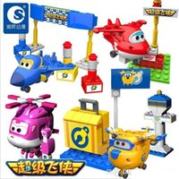 Wholesale Airplanes Wing - New Super Wings Mini Planes Deformation Airplane Robot Action Figures Transformation Toys Boys Birthday Gift b259
