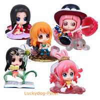 Wholesale One Piece Shirahoshi - Free Shipping One Piece Nami Robin Action Figure Cute Shirahoshi Perona Boa Hancock Doll PVC ACGN figure Garage Kit Toys Brinquedos Anime