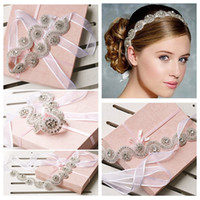 Wholesale Crystal Flower Suppliers - Cheap Crystal Tiaras Headbands Handmade Bridal Hair Accessories Rhinestone Vintage Wedding Accessories Crowns 2014 Jewelry Suppliers