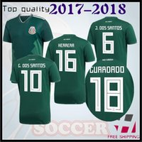 Wholesale National Children - best quality Mexico 2018 Russia World Cup national team socce jersey CHICHARITO G.DOS SANTOS R.MARQUEZ Mexico soccer Jersey child kit