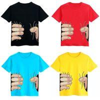 Wholesale Spoof Grab Shirts - 5colors Fashion 3D Big Hand Boys T-Shirts Spoof Grab You 25pcs lot Cotton Children Short Sleeve Tops Visual Creative girls Tees