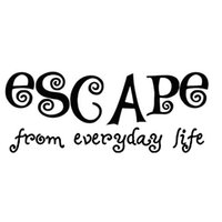 Escape From Everyday Life Swirl Forme Art Mots Autocollant Mural Creative Vinyle amovible Décoration Stickers Grande Taille 140x58cm