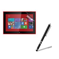 """Wholesale Touch Pen For Lumia - Wholesale-Matte Matted Anti-Glare Anti-Fingerprint Screen Protector Film Guards + Stylus Touch Pen For Nokia Lumia 2520 10.1"""" Tablet"""