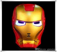 HOT SALING LED Film Maske American Superheld Iron Man Glühen Flash Halloween Kinder Maske Karneval BESTE GESCHENK B229