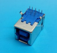 Wholesale Hi Speed Hdmi - 20Pcs HI-Speed USB 3.0 Type B 9Pin 90 degrees DIP PCB Soldering Connectors connector xlr pcb connector manufacturers