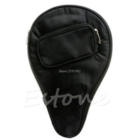 Wholesale Bag Bats - Wholesale- Waterproof Table Tennis Racket cPaddle Bat Bag Pouch with Ball Case