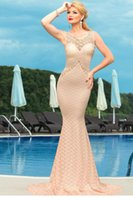 Wholesale Vestidos Deluxe - vestidos longos 2015 fashion women dress party evening elegant Deluxe Mermaid Style Lace Hollow outs Maxi Evening Dress LC60043