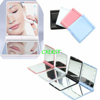 Make-Up-Spiegel Kosmetik Folding Portable Tasche mit 8 LED-Leuchten Brand New High Quality