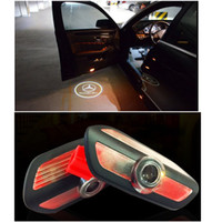 Wholesale car door signs - LED Projection Logo Ghost Shadow Car Door Welcome Light DIY Step Light Symbol Sign Badge 2014-2016 S Class - 1 Pair