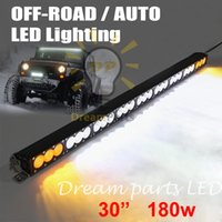 Wholesale Led Offroad Light New - NEW Design 30inch 180W CREE LED Light bar yellow amber White LED 16200 Lumens Off-Road Combo for Offroad ATV Truck SUV JEEP