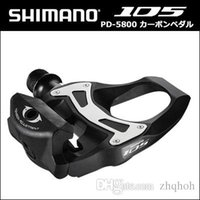 Wholesale Carbon Road Bike Pedal - SHIMANO 5800 Pedals SPD SL Carbon Pedals Floating Crampons 105 CARBONE With Crampons Road bike Bicycle 5800 pedals free boat