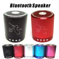 Wholesale Speakers Fedex - T2020A Angel bluetooth Speaker Card USB Speaker computer phone MP3 player metal material with MIC DHL,Fedex free shipping