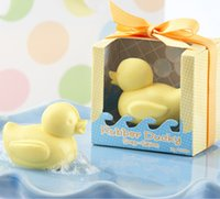 Wholesale Ducky Soap - 20pcs Yellow Cute Ducky Soap For Wedding Party Birthday Souvenirs Gift Favor New