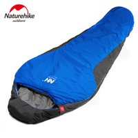 Wholesale Cold Winter Sleeping Bag - 210 * 83cm 3Seasons Camping Backpacking Sleeping Bag Cutton Lining Sleeping Bags+Compression Bag Naturehike Waterproof Y1532