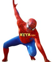Wholesale Spider Man Mascots - Spider man Mascot Costume Fancy Party Dress Suit Free Shipping