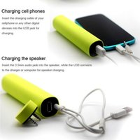 Wholesale External Battery Iphone Mini - 3 in 1 Mini Speaker 4000mAh Power Bank Battery Stereo Speakers Cellphone Stand Holder External Battery Charger for iphone 6 plus note 4 S5