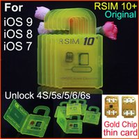 Wholesale T Mobile Iphone 5s Wholesale - Original RSIM 10+ rsim 10 + R-sim 10+ thin unlock card for ios9.X IOS8 IOS7 iphone 6s 6 5s 5 4s AT&T T-mobile Sprint WCDMA GSM CDMA 3G 4G