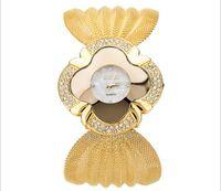 Wholesale Diamante Watches - Luxury fashion bracelet watch for women Popular hot EU US diamante butterfly mesh watchband women quartz watches wholesale dress wristwatch