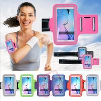 couverture de sport iphone 4s achat en gros de-Pour Iphone 6 S6 S6edge Brassard Running Running Gym Brassard de sport Porte-sac pour téléphone Étui de protection pour pouf IPHONE SE / 5S / 4 / 4S Samsung S5 S4 Note 4