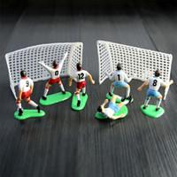 pastel de fiesta de hadas al por mayor-Nuevo diseño Football Boys Miniatura Figurita Spoart Team Cake Decoration Mini Fairy Garden Party Figuras de acción Adornos para el hogar Regalo