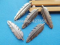 Wholesale Antique Bronze Filigree Charm Findings - 500pcs 100pcs Good Polishing Bling Antique Silver tone Antique Bronze Filigree Feather Pendant Charm Finding,DIY Accessory Jewellry