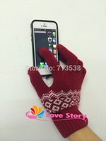 Wholesale I Pad Touch - Wholesale-2pairs Winter Knitted iglove Pad iPhone Screen Touch Gloves outdoor hand wrist fitness gloves for women and men, I glove Mittens