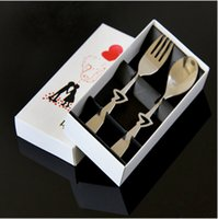 Wholesale Wedding Gift Cutlery - 2015 Unique Wedding Party Gifts Wedding Guest Cutlery Gift