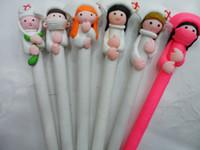 Wholesale Souvenirs Pens - 500pcs Doctors and nurses Souvenirs Nurses Day Gift Fimo gift pen Hospitals and clinics gifts Nurse Pen