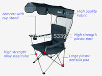 outdoor folding chairs with canopy - Outdoor Portable Folding Backpack Beach Chair With Sunshade Folding Fishing Chair with Awning Causal Foldable Canopy Chair
