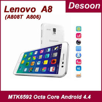 Wholesale Android Cell Phone 2g Ram - Original Lenovo A8 A808T a808t-i Lenovo A806 cell phone 2G RAM 16G ROM MTK 6592 Octa Core1.7Ghz Android 4.4 13MP 5.0''  mary