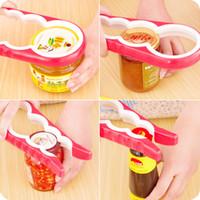 ingrosso vaso aperto-apri-bottiglia e apribottiglie creativo 4 in 1 dispositivo a coperchio aperto con dispositivo antiscivolo e apriscatole