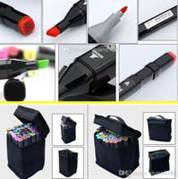 Wholesale finecolour markers wholesale - art mark pen 168 color Alcohol Marker pen soluble pen cartoon graffiti art copic sketch markers for designers finecolour markers