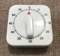 neue küchentimer großhandel-Neue 60 Minuten Küche Timer Countdown Alarm Erinnerung White Square Mechanische Timer für Küche