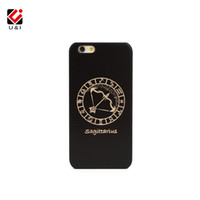 Wholesale Mobile Phone Cases Wholesale China - China Supplier U&I 12 Constellation Zodiac Case for iPhone Apple 6 6s 6 s Hard PC Black Wood Plastic Cell Mobile Phone Cover