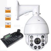 "Wholesale Effio Ptz - Auto Tracking 1 3"" Sony EFFIO-E 700TVL IR PTZ 30X ZOOM w  3 Axle LCD Keyboard Controller"